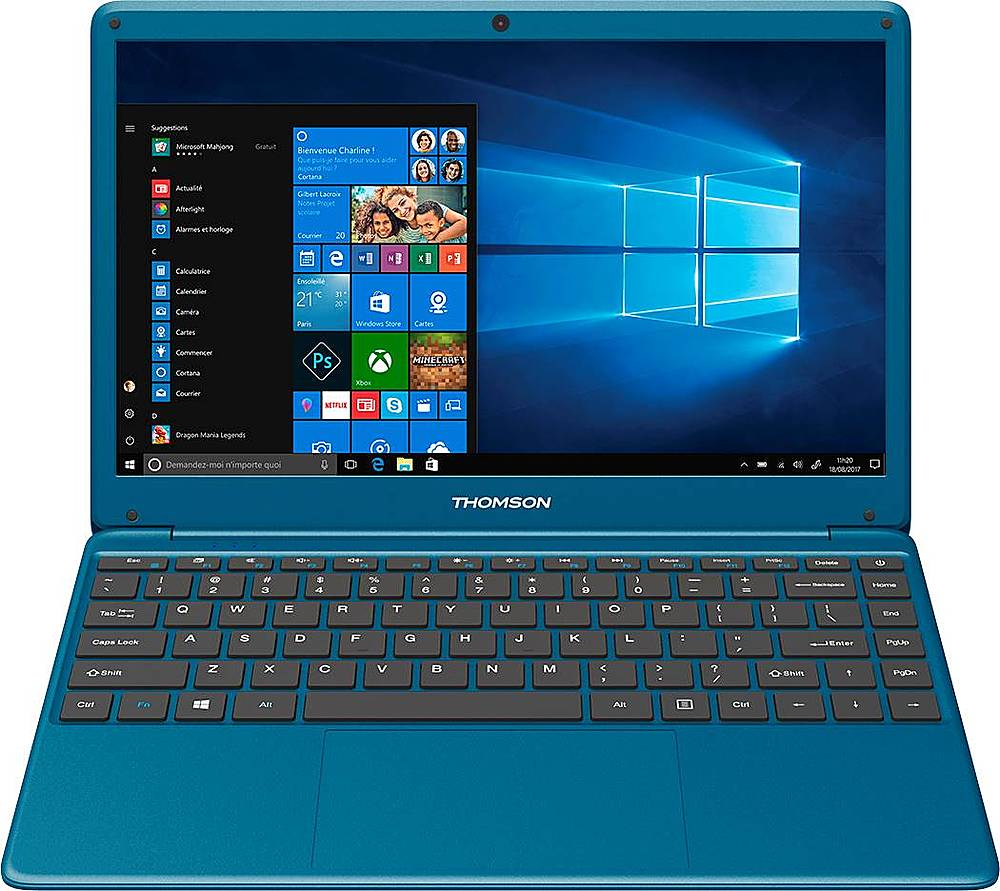 "Front Zoom. Thomson - NEO X 14.1"" Laptop - Intel Celeron - 4GB Memory - 64GB eMMC - Blue."
