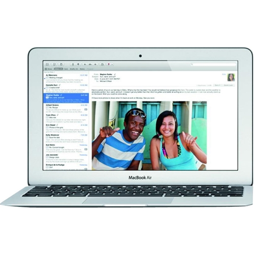 """Front Standard. Apple - MacBook Air 11.6"""" Pre-owned Laptop - Intel Core i5 - 4GB Memory - 64GB Flash Storage - Silver."""