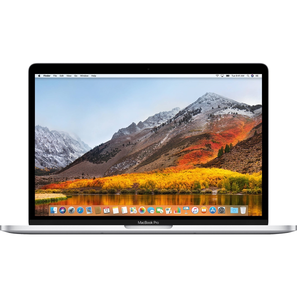 """Front Zoom. Apple - MacBook Pro 13.3"""" Laptop - Intel Core i5 - 8GB Memory - 256GB SSD - Pre-Owned - Silver."""