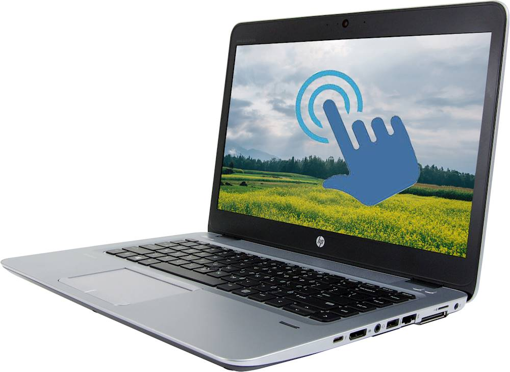 "Left Zoom. HP - EliteBook 14"" Refurbished Laptop - Intel Core i7 - 8GB Memory - 512GB SSD - Silver."