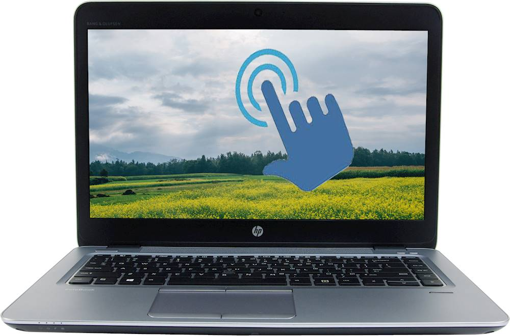 "Front Zoom. HP - EliteBook 14"" Refurbished Laptop - Intel Core i7 - 8GB Memory - 512GB SSD - Silver."