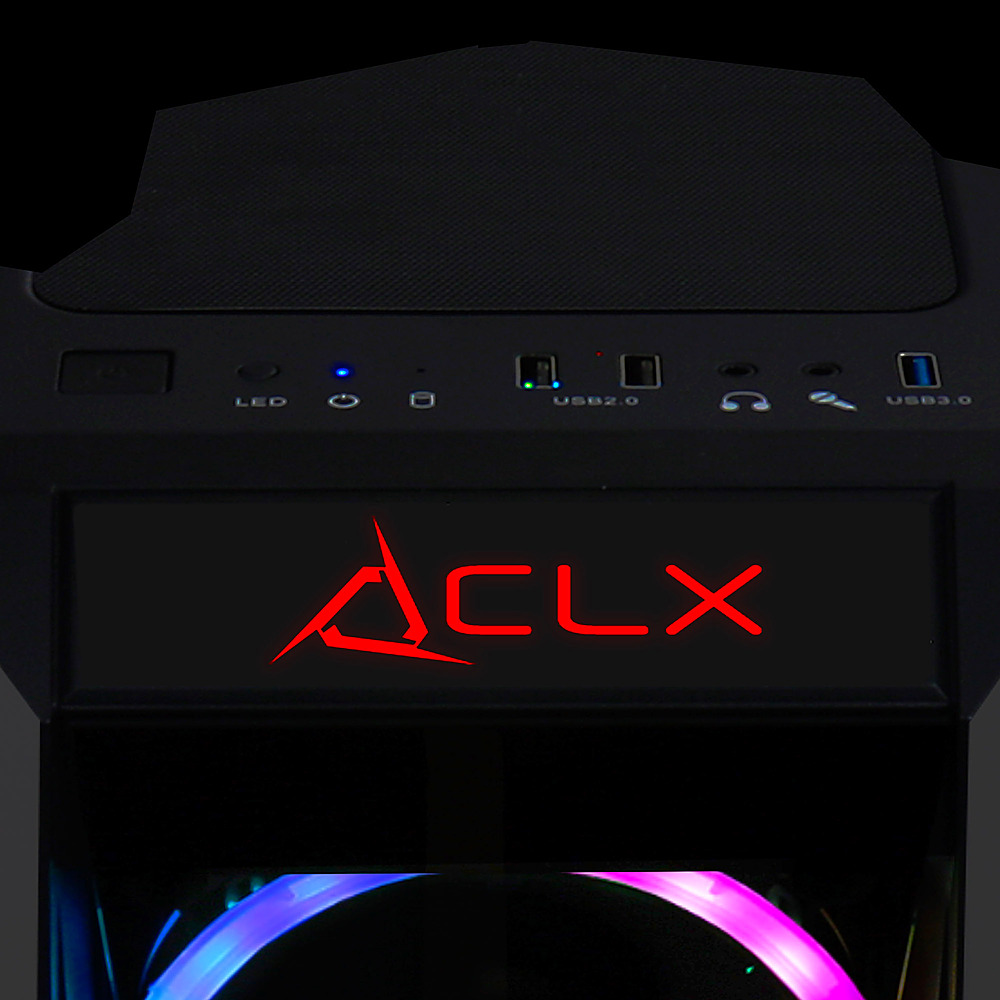 Alt View Zoom 6. CLX - SET Gaming Desktop - Intel Core i7 9700F  - 16GB Memory - GeForce RTX 3060 Ti - 240GB SSD + 2TB HDD.