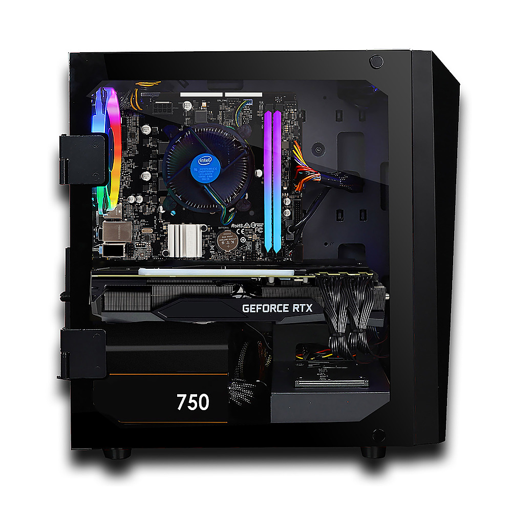 Alt View Zoom 4. CLX - SET Gaming Desktop - Intel Core i7 9700KF  - 16GB Memory - GeForce RTX 3060 Ti - 480GB SSD + 3TB HDD.