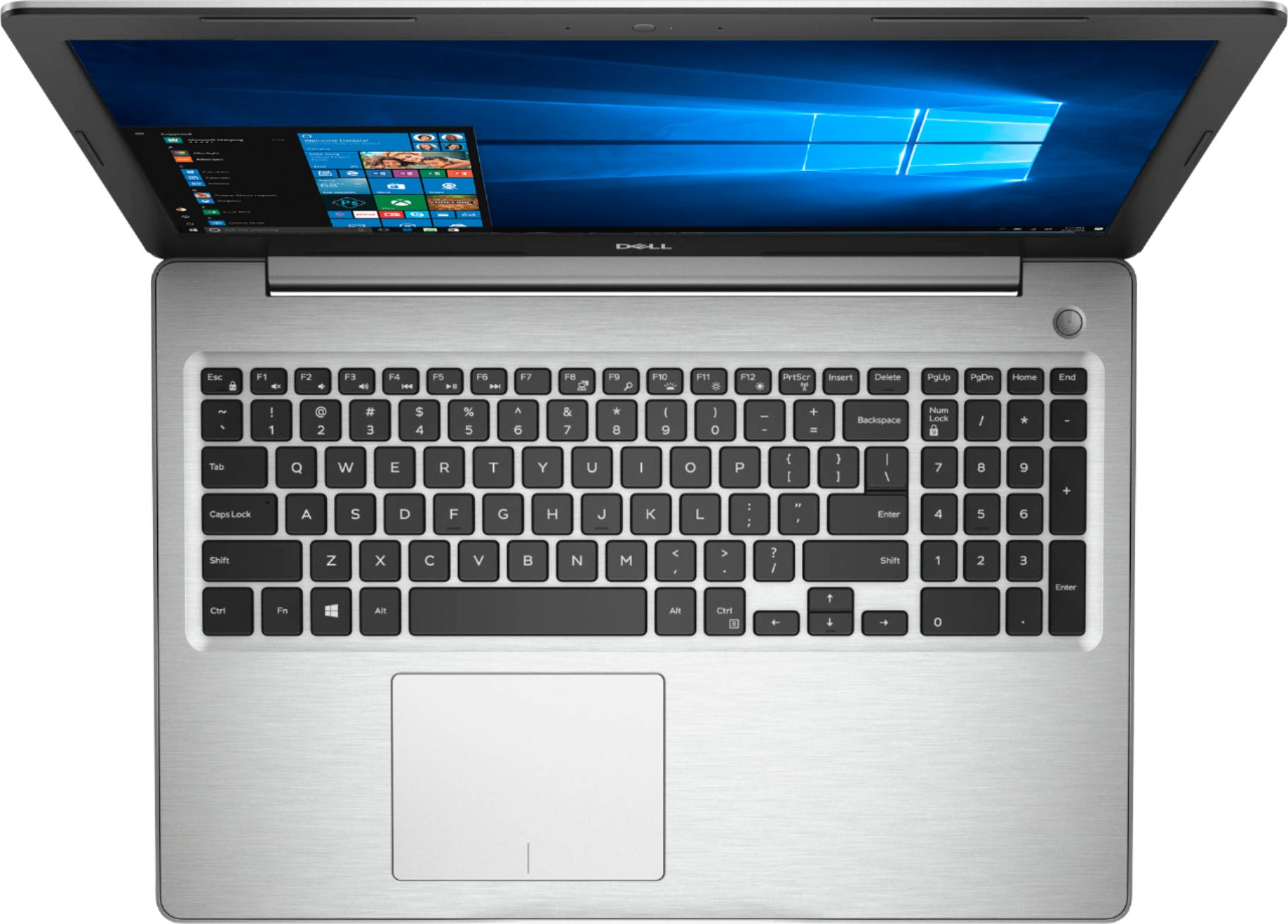 """Alt View Zoom 11. Dell - Geek Squad Certified Refurbished Inspiron 15.6"""" Touch-Screen Laptop - Intel Core i7 - 12GB Memory - 256GB SSD - Silver."""