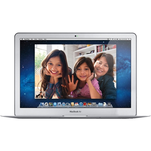 """Front Standard. Apple - MacBook Air 13.3"""" Pre-Owned Laptop - Intel Core i5 - 2GB Memory - 64GB Hard Drive - Silver."""