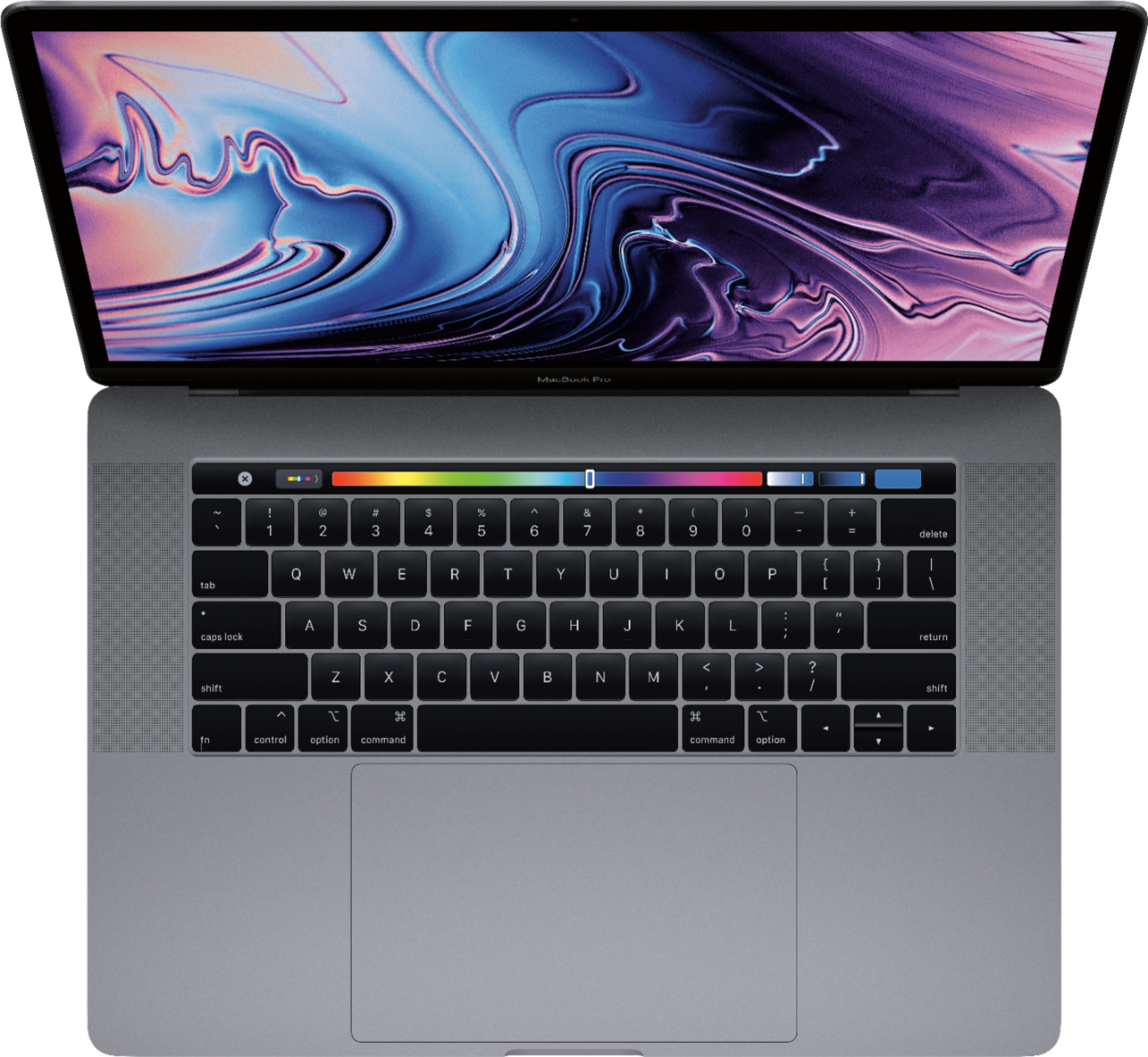 """Alt View Zoom 12. Apple - MacBook Pro 15.4"""" Display with Touch Bar - Intel Core i9 - 32GB Memory - AMD Radeon Pro 555X - 1TB SSD - Space Gray."""