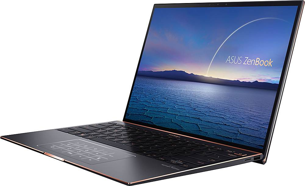 """Left Zoom. ASUS - ZenBook S 13.9"""" Touch-Screen Laptop - Intel Core i7 - 16GB Memory - 1TB Solid State Drive - Jade Black."""