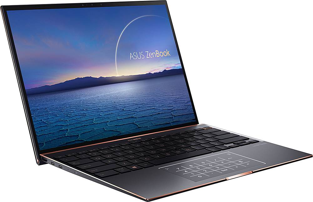 """Angle Zoom. ASUS - ZenBook S 13.9"""" Touch-Screen Laptop - Intel Core i7 - 16GB Memory - 1TB Solid State Drive - Jade Black."""