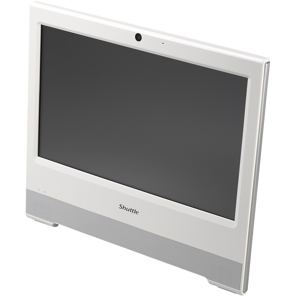 "Alt View Zoom 11. Shuttle - XPC 15.6"" Touch-Screen Barebone All-In-One - Intel Celeron - White."
