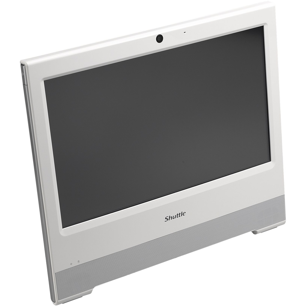 "Alt View Zoom 12. Shuttle - XPC 15.6"" Touch-Screen Barebone All-In-One - Intel Celeron - White."
