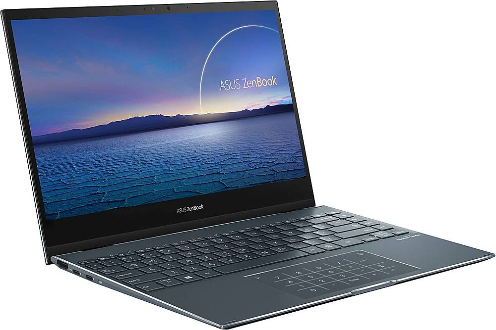 "Angle Zoom. ASUS - ZenBook Flip 2-in-1 13.3"" Touch-Screen Laptop - Intel Core i7 - 16GB Memory - 512GB Solid State Drive - Pine Gray."
