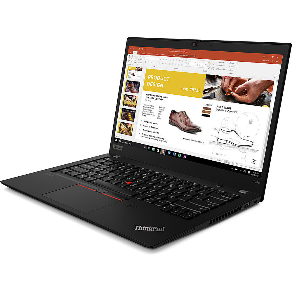 "Front Zoom. Lenovo - 14"" ThinkPad T14s Gen 1 Laptop - 8GB Memory - Intel Core i5 - 256GB Hard Drive."