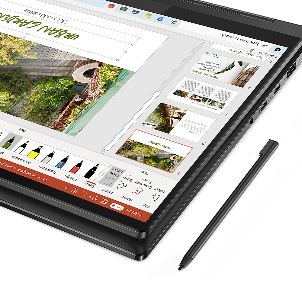 """Alt View Zoom 3. Lenovo - Yoga 9i 14 2-in-1 14"""" Touch-Screen Laptop - Intel Core i7 - 16GB Memory - 512GB SSD - Shadow Black."""