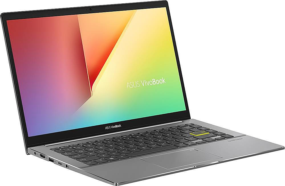 """Angle Zoom. ASUS - VivoBook S14 14"""" Laptop - Intel Core i5 - 8GB Memory - 512GB Solid State Drive - Indie Black/Light Gray."""