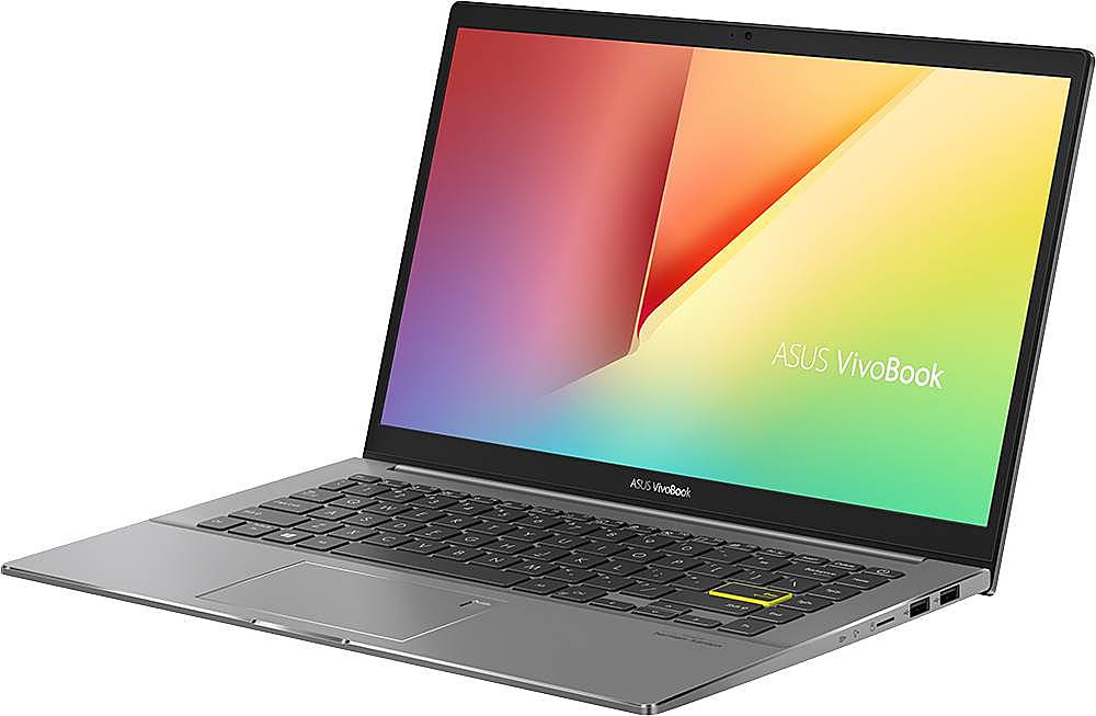 """Left Zoom. ASUS - VivoBook S14 14"""" Laptop - Intel Core i5 - 8GB Memory - 512GB Solid State Drive - Indie Black/Light Gray."""