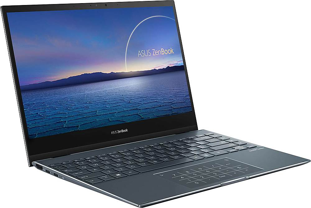"""Angle Zoom. ASUS - ZenBook Flip 2-in-1 13.3"""" Touch-Screen Laptop - Intel Core i5 - 8GB Memory - 512GB Solid State Drive - Pine Gray."""