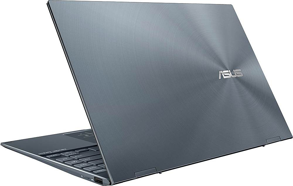 """Alt View Zoom 1. ASUS - ZenBook Flip 2-in-1 13.3"""" Touch-Screen Laptop - Intel Core i5 - 8GB Memory - 512GB Solid State Drive - Pine Gray."""