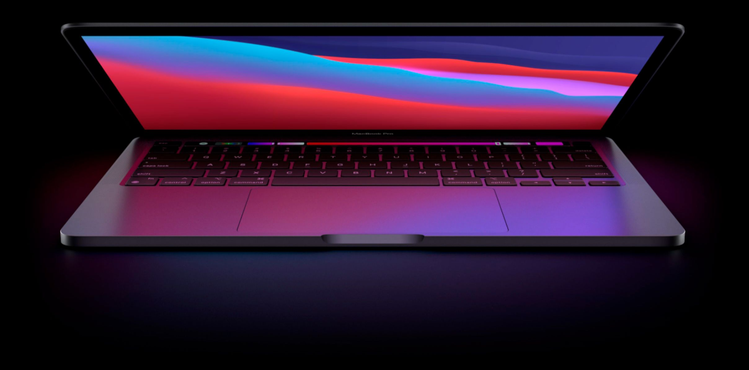 """Front Zoom. Apple 13"""" MacBook Pro - 16GB Memory - 1TB SSD - Space Gray."""