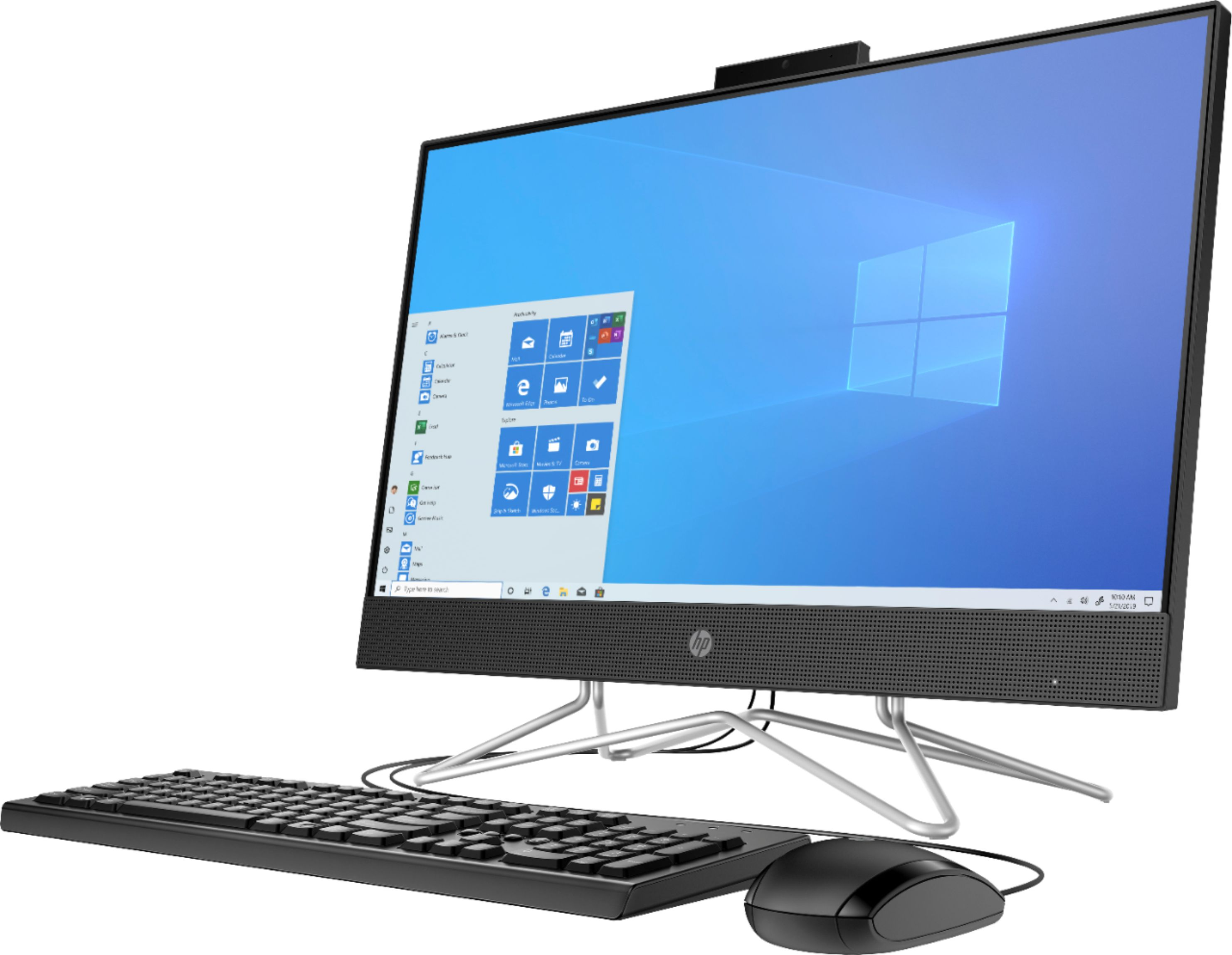 "Angle Zoom. HP - 24"" All-In-One - Intel Core i3 - 8GB Memory - 256GB SSD - Black."