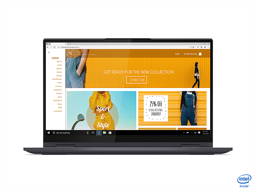 """Alt View Zoom 4. Lenovo - Yoga 7i 15 2-in-1 15.6"""" Touch Screen Laptop - Intel Core i7 - 16GB Memory - 1024GB SSD - Slate Grey."""