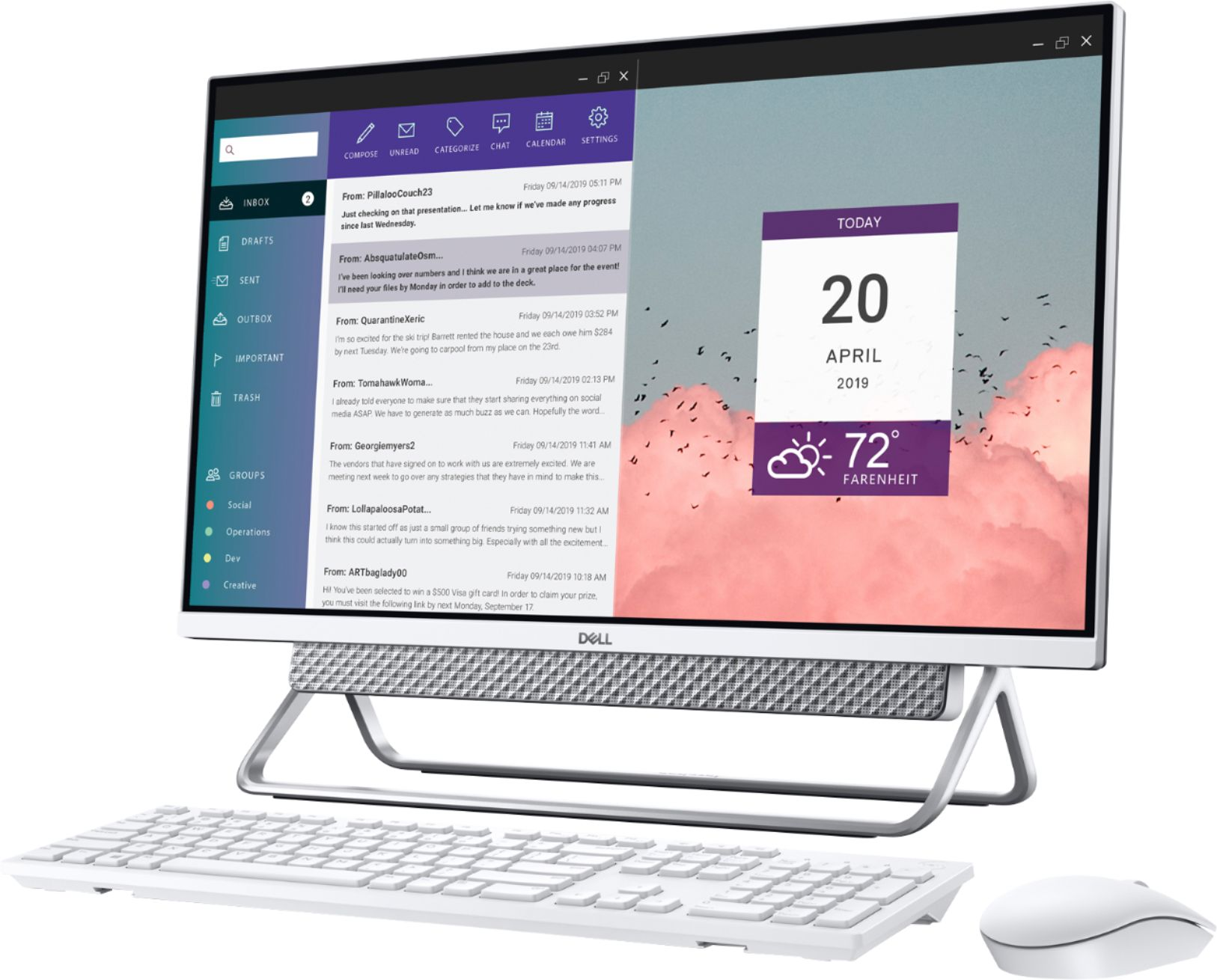 """Alt View Zoom 2. Dell - Inspiron 27"""" Touch screen All-In-One - Intel Core i7 - 16GB Memory - 512GBSSD +1TB HDD - NVIDIA GeForce MX110 - Silver."""