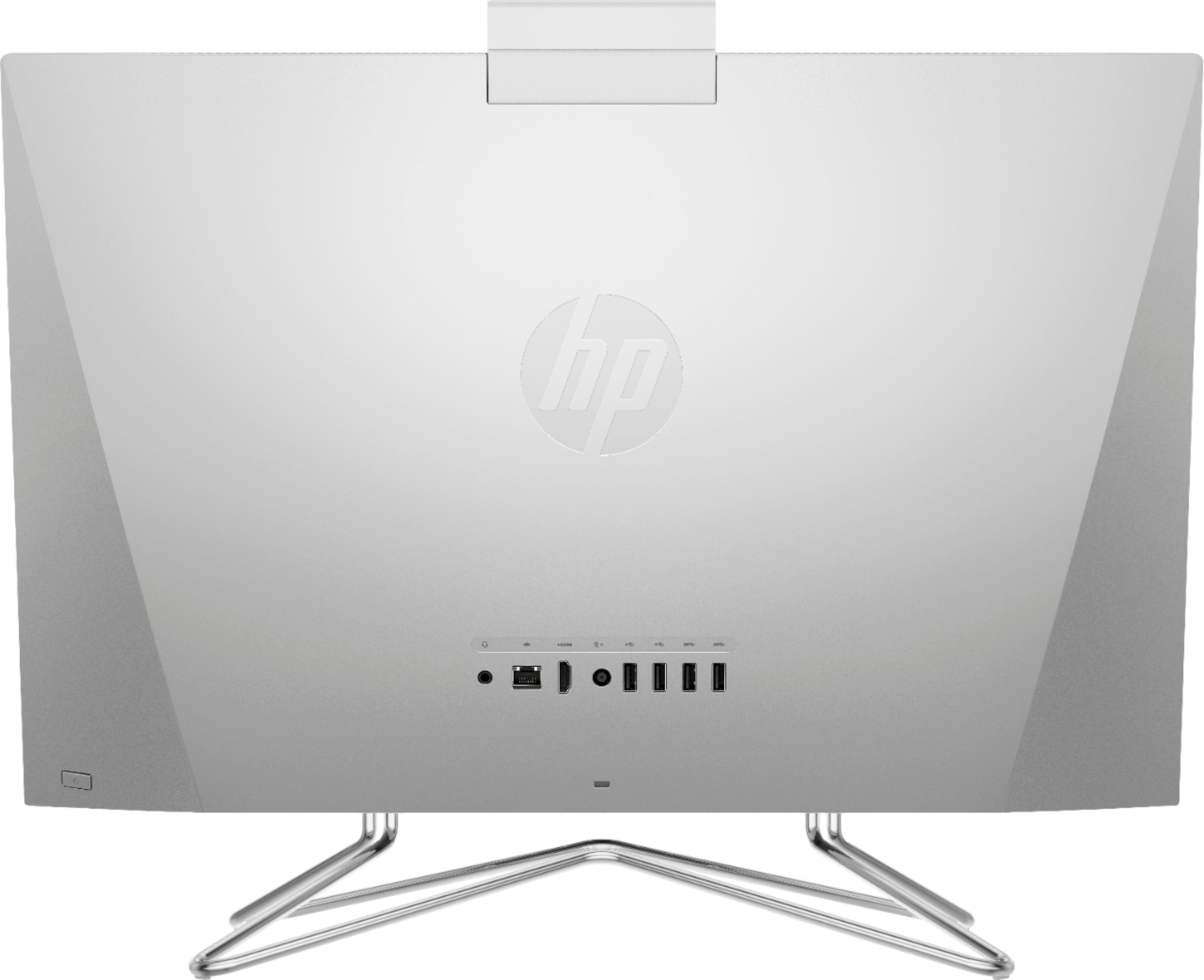 """Back Zoom. HP - 23.8"""" Touch-Screen All-In-One - AMD Ryzen 5-Series - 12GB Memory - 256GB SSD - Natural Silver."""