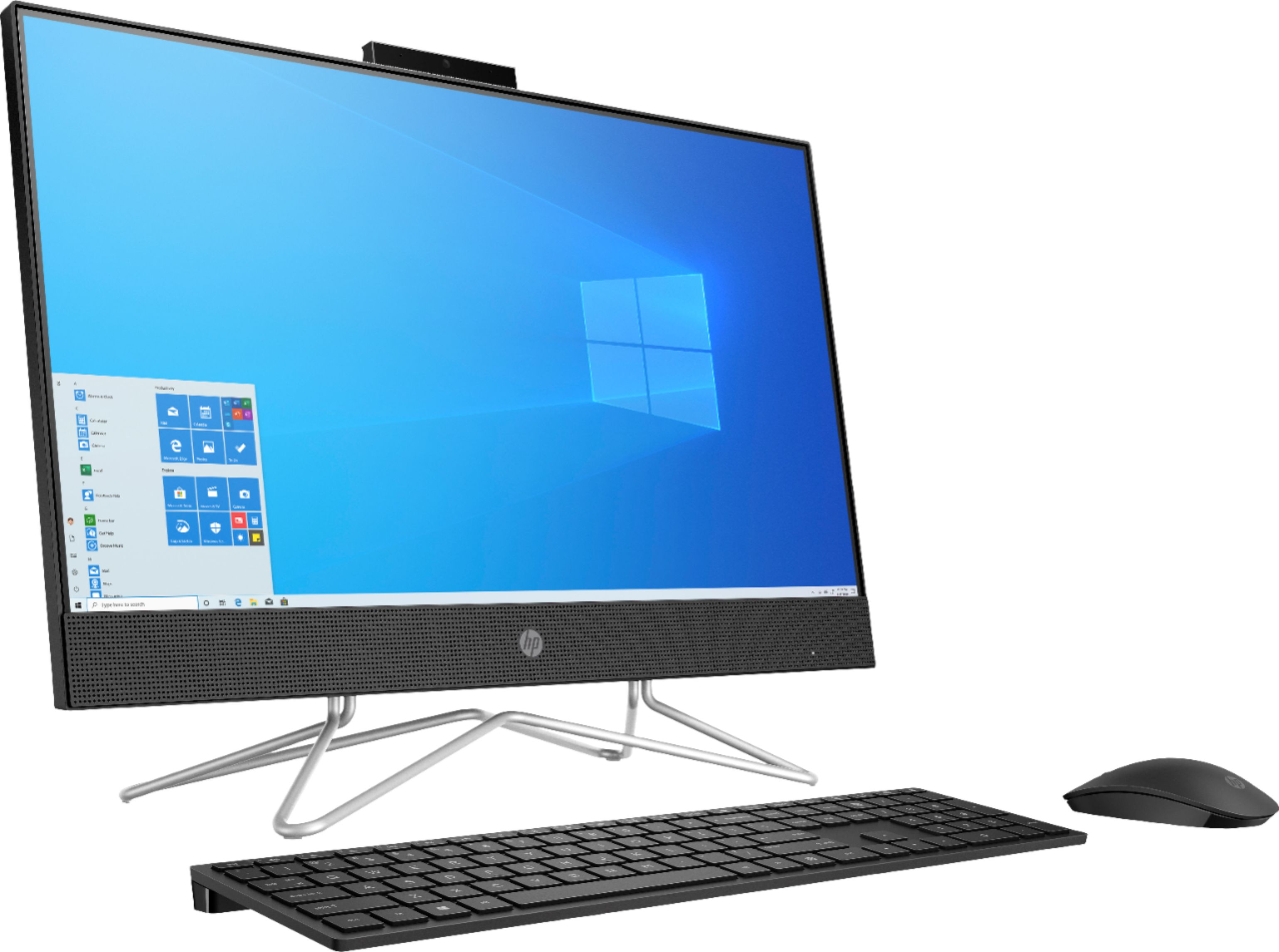 "Angle Zoom. HP - 23.8"" Touch-Screen All-In-One - AMD Ryzen 3-Series - 8GB Memory - 256GB SSD - Jet Black."