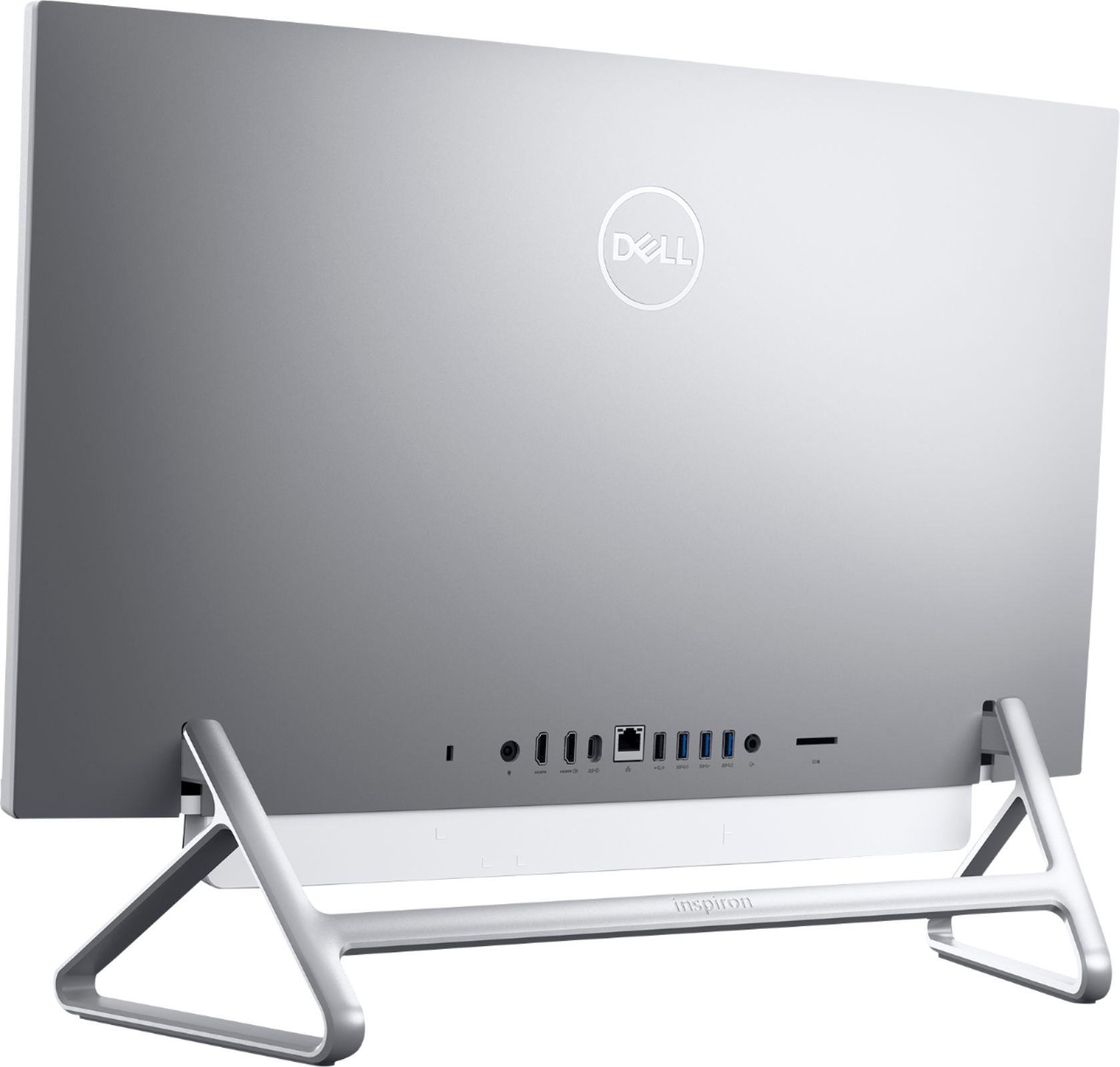 """Back Zoom. Dell - Inspiron 27"""" Touch-Screen All-In-One - Intel Core i7 - 12GB Memory - 512GB Solid State Drive - Silver."""
