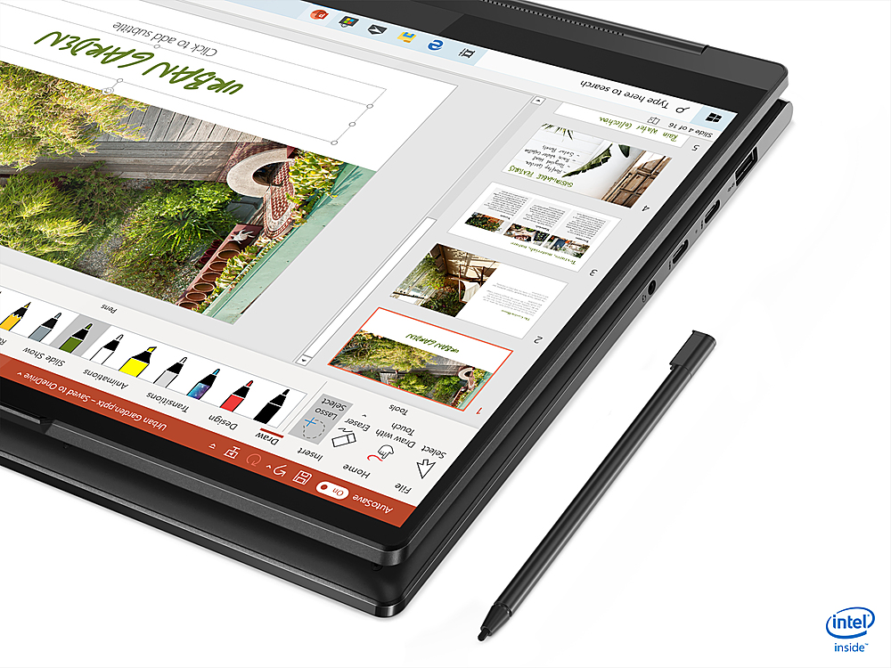 """Alt View Zoom 3. Lenovo - Yoga 9i 14 2-in-1 14"""" Touch-Screen Laptop - Intel Core i7 - 8GB Memory - 256GB SSD - Shadow Black."""