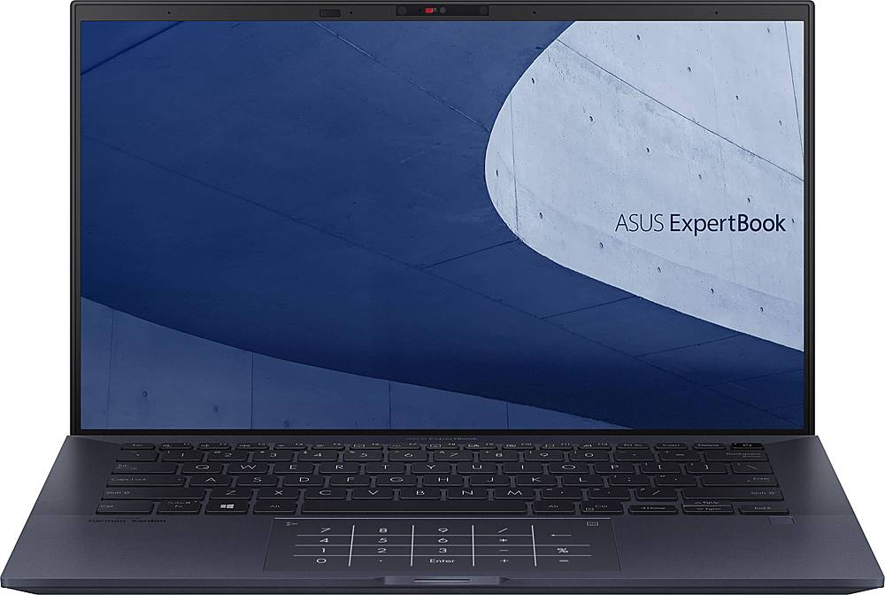 """Front Zoom. ASUS - ExpertBook B9 14"""" Laptop - Intel Core i7 - 16GB Memory - 1TB SSD - Star Black."""