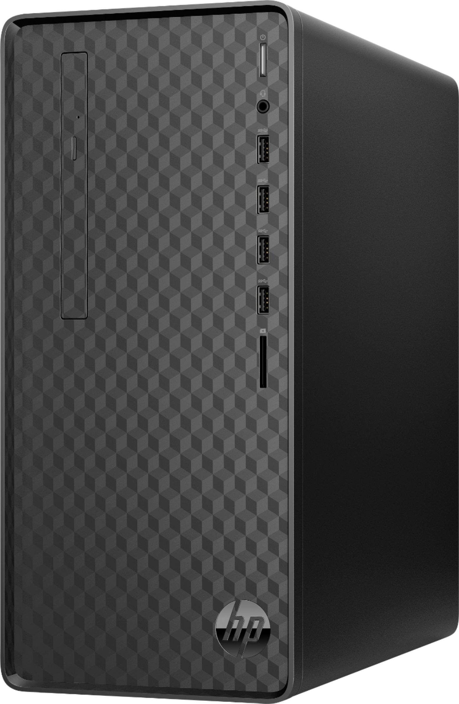 Angle Zoom. HP - Desktop - AMD Ryzen 3-Series - 8GB Memory - 256GB Solid State Drive - Jet Black.