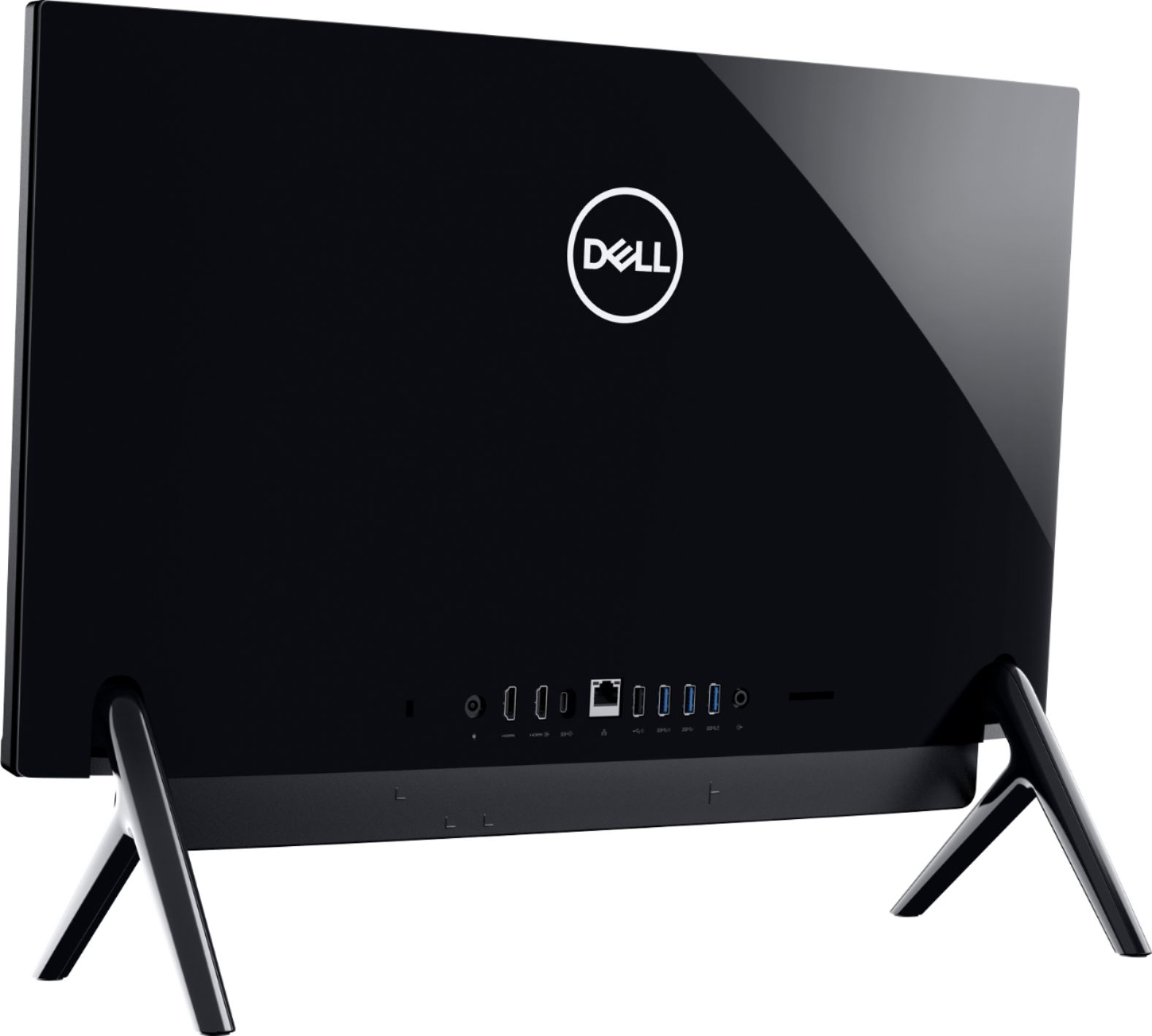 "Back Zoom. Dell - Inspiron 24"" Touch-Screen All-In-One - Intel Core i3 - 8GB Memory - 256GB SSD - Black."