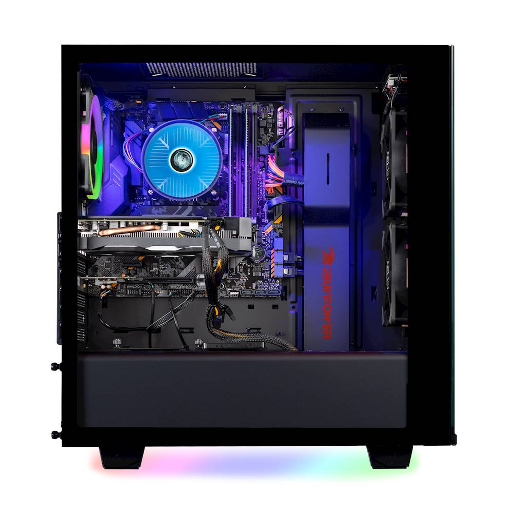 Alt View Zoom 2. iBUYPOWER - Element Gaming Desktop- Intel Core i7-9700F - 16GB Memory - NVIDIA GeForce GTX 1660 - 2TB Hard Drive + 240GB SSD - Black.