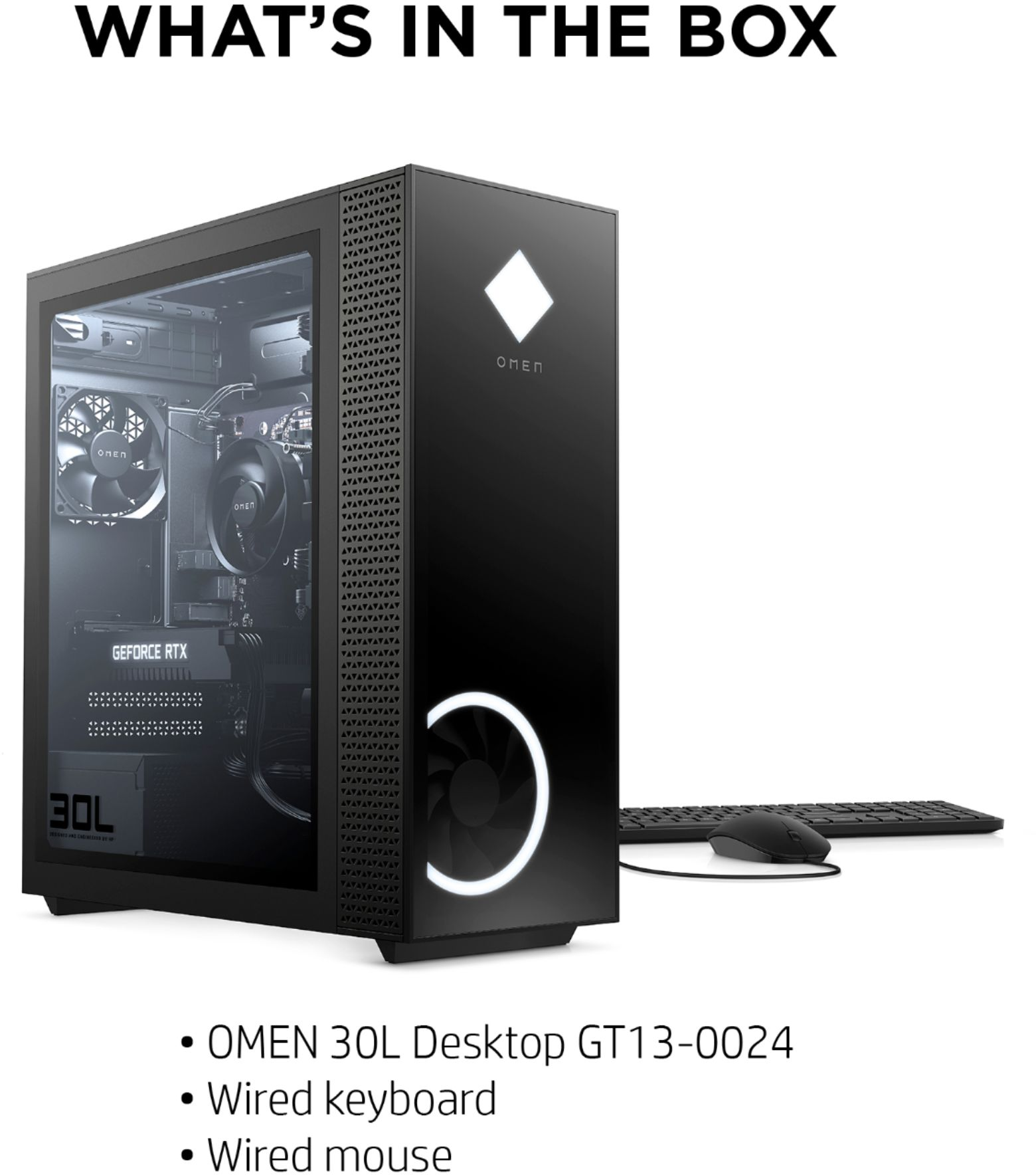 Alt View Zoom 13. HP OMEN - 30L Gaming Desktop - AMD Ryzen 7-Series - 3700X - 16GB Memory - NVIDIA GeForce RTX 2060 - 1TB HDD + 256GB SSD - Black.
