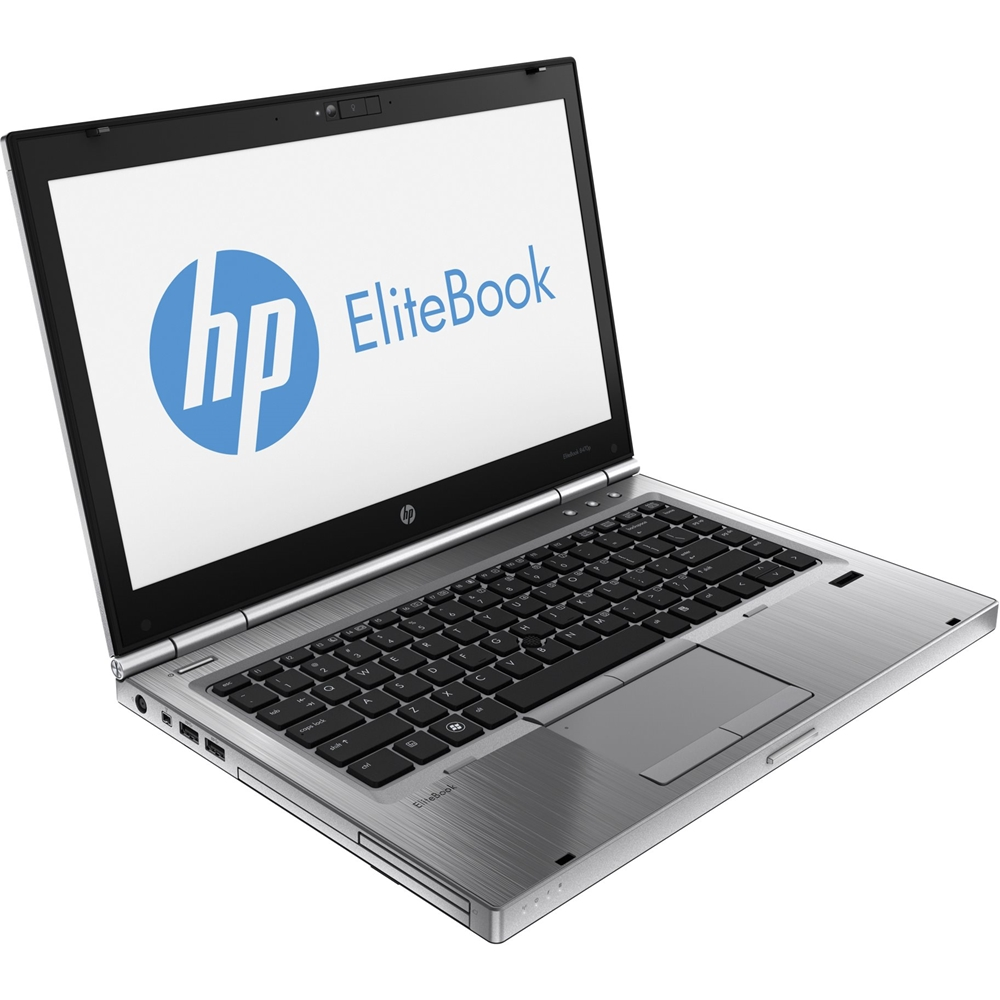"Left Zoom. HP - EliteBook 14"" Refurbished Laptop - Intel Core i5 - 8GB Memory - 250GB Hard Drive - Silver."