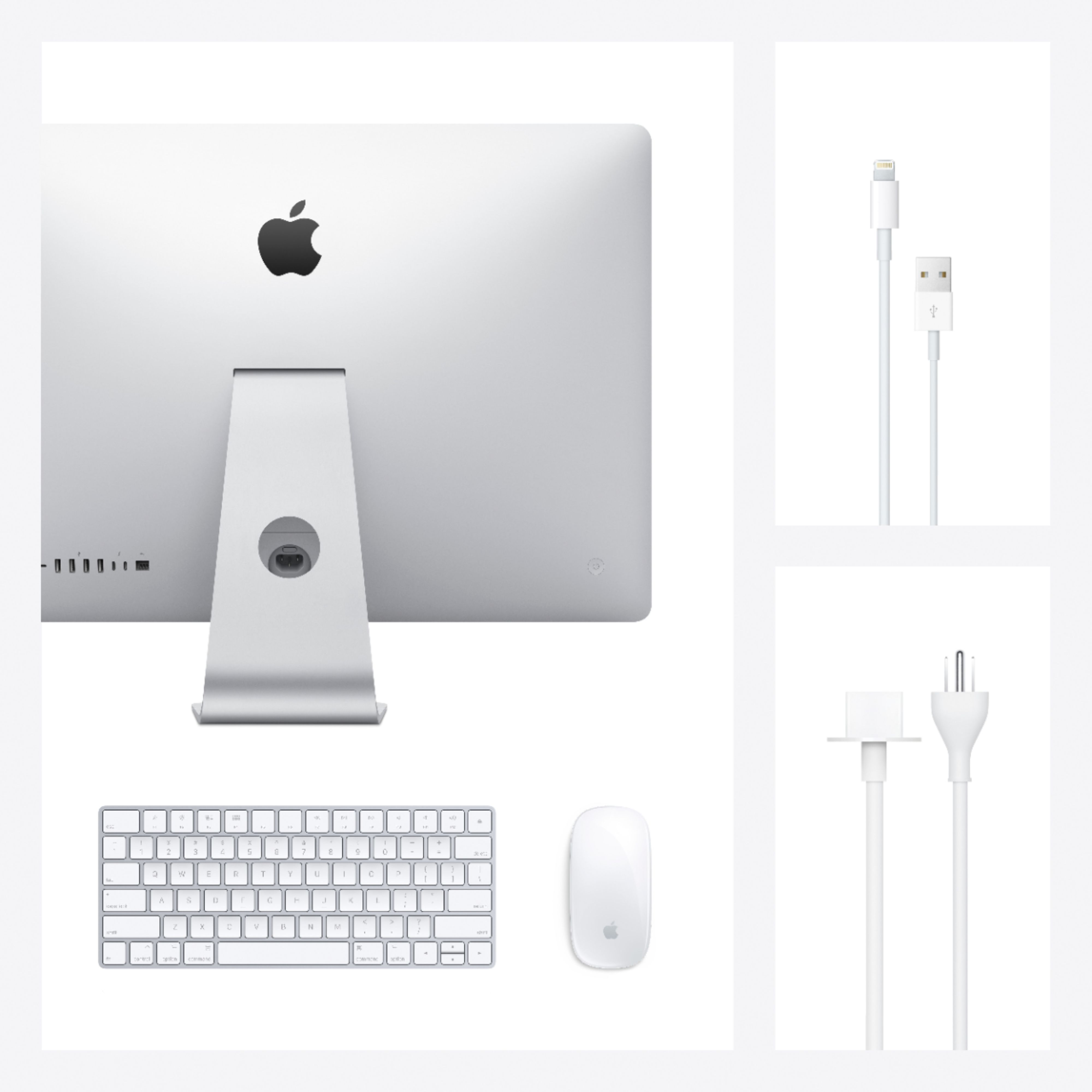"Alt View Zoom 14. Apple - 27"" iMac® with Retina 5K display (Latest Model) - Intel Core i5 (3.3GHz) - 8GB Memory - 512GB SSD - Silver."