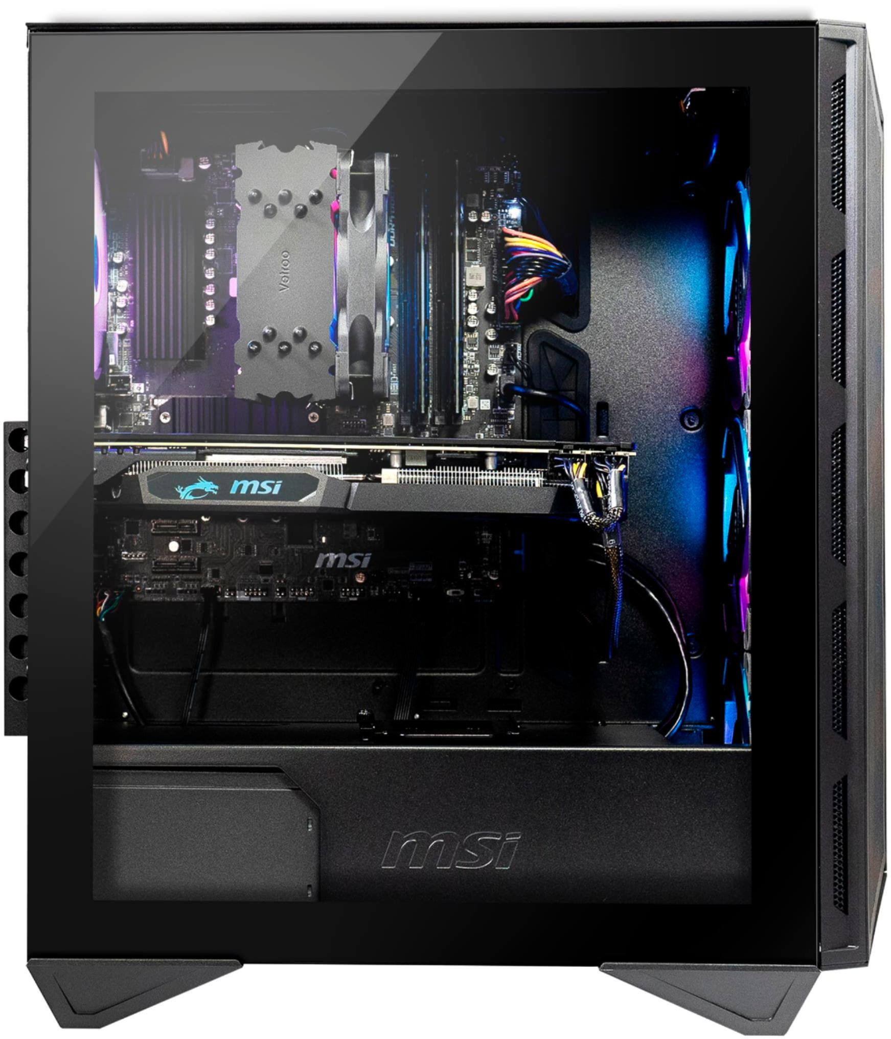 Alt View Zoom 4. MSI - Aegis RZ Gaming Desktop - AMD Ryzen - 3700X - 16GB Memory - RX 5600XT - 512GB SSD - Black.