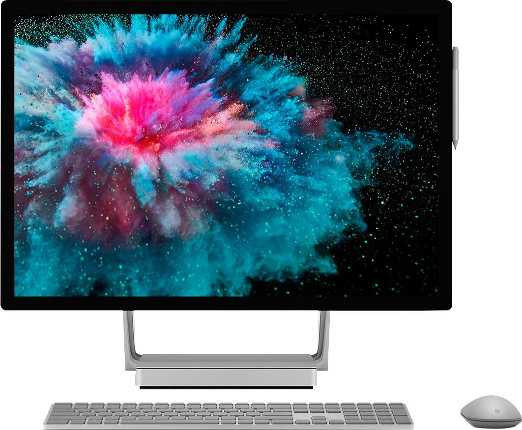 """Front Zoom. Microsoft - Surface Studio 2 - 28"""" Touch-Screen All-In-One - Intel Core i7 - 16GB Memory - 1TB Solid State Drive (Latest Model) - Platinum."""