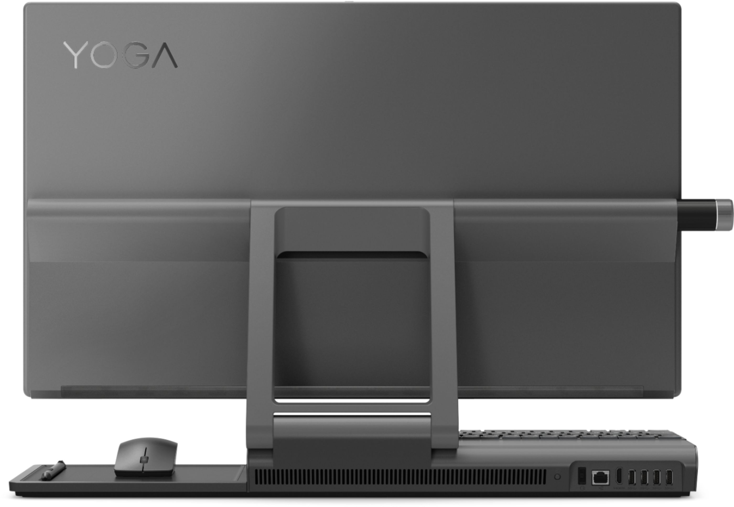 """Back Zoom. Lenovo - Yoga A940-27ICB 27"""" Touch-Screen All-In-One - Intel Core i7 - 16GB Memory - 1TB Hard Drive + 256GB Solid State Drive - Gray."""