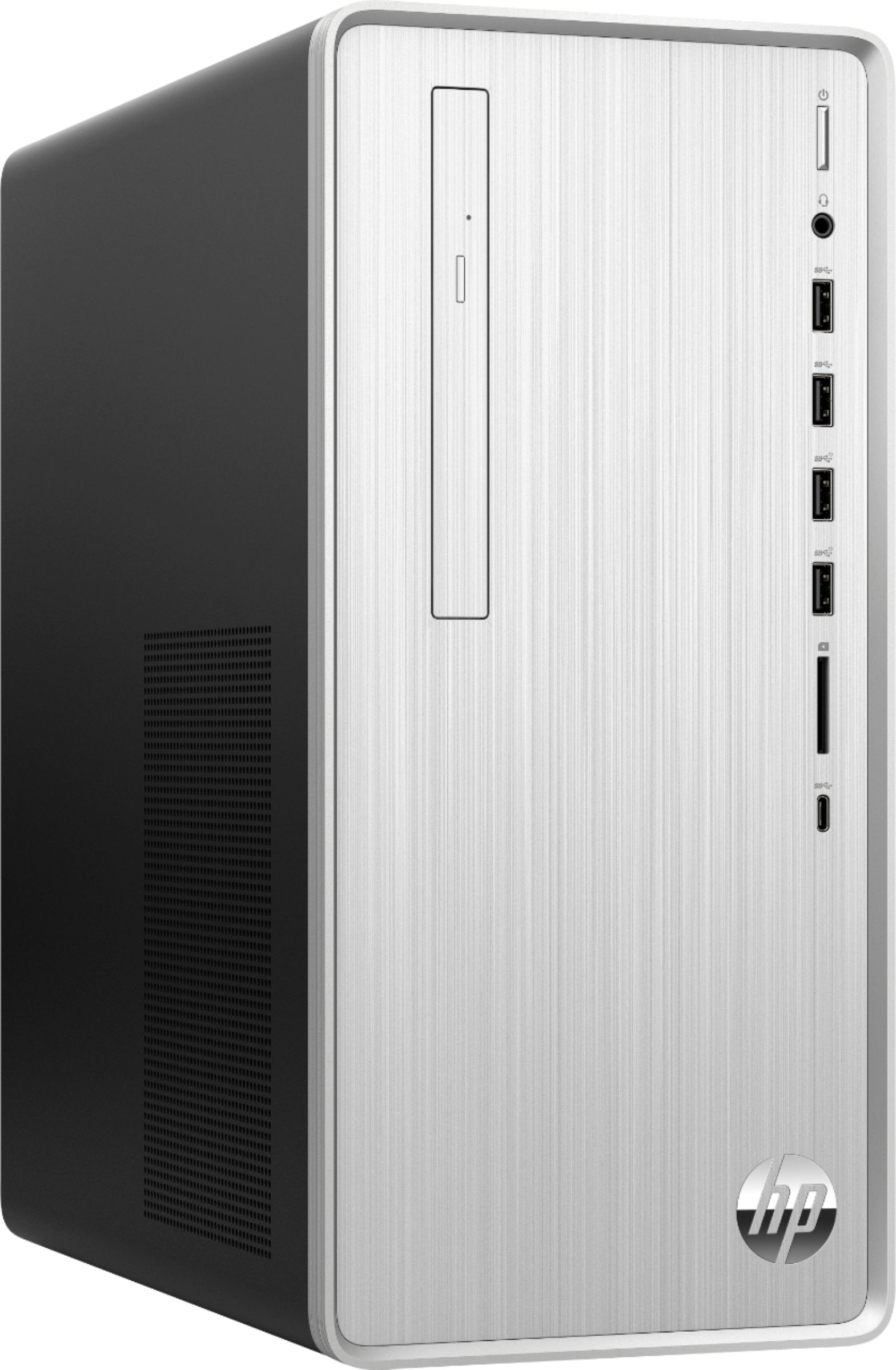 Angle Zoom. HP - Pavilion Desktop - Intel Core i3 - 8GB Memory - 256GB Solid State Drive - Natural Silver.