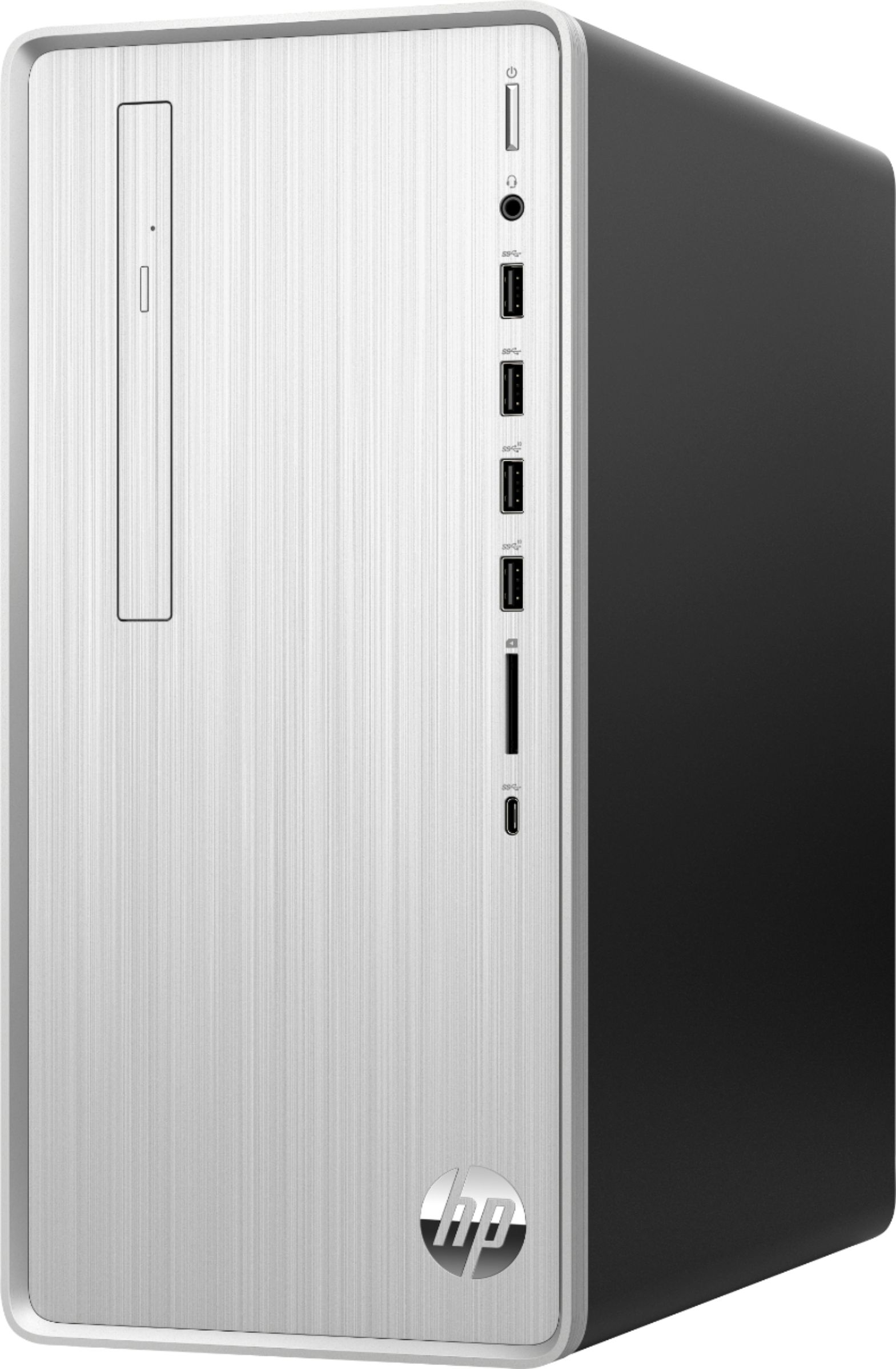 Left Zoom. HP - Pavilion Desktop - Intel Core i3 - 8GB Memory - 256GB Solid State Drive - Natural Silver.