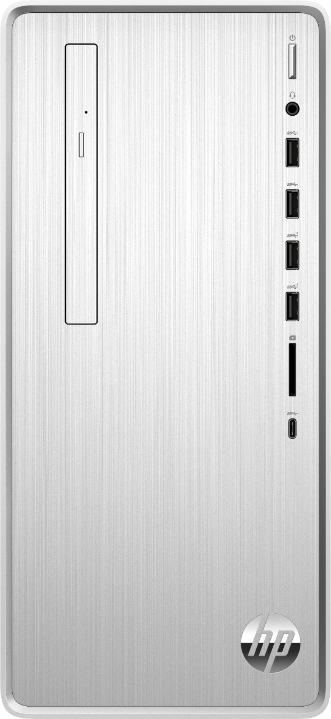 Alt View Zoom 6. HP - Pavilion Desktop - Intel Core i3 - 8GB Memory - 256GB Solid State Drive - Natural Silver.