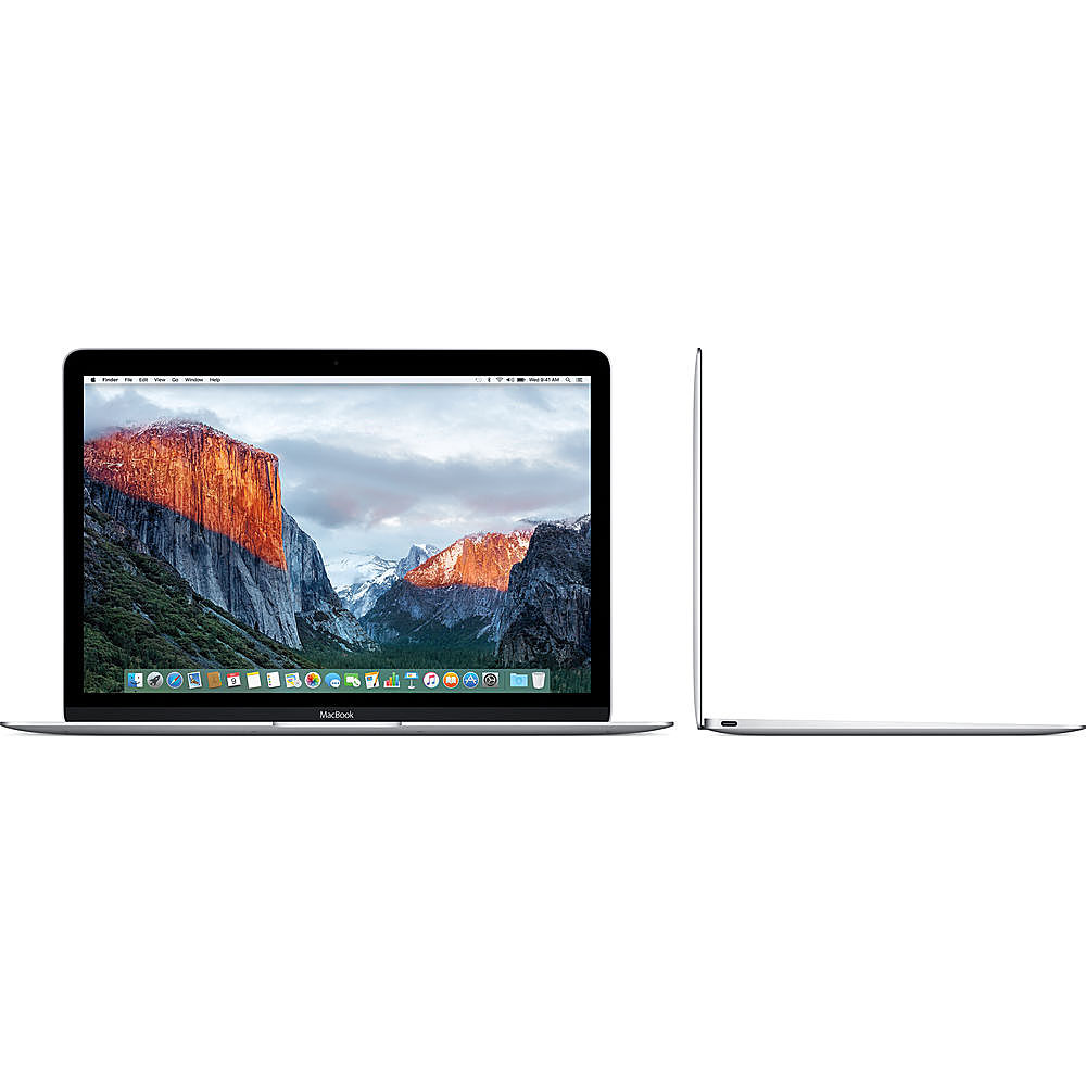 """Left Zoom. Apple - Macbook - 12"""" Pre-Owned - Intel Core M5 - 8GB Memory - 512GB Solid State Drive - Silver."""