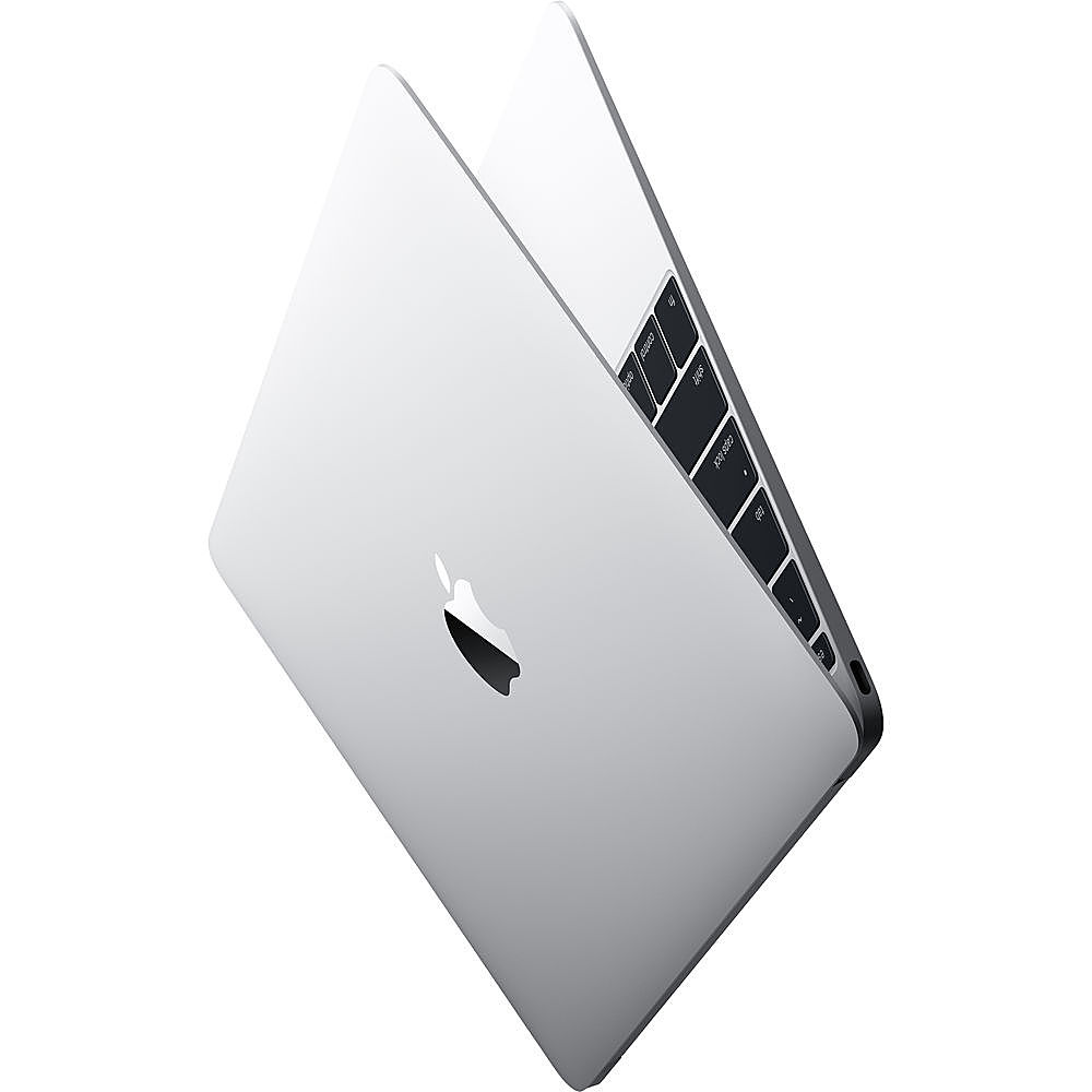 """Angle Zoom. Apple - Macbook - 12"""" Pre-Owned - Intel Core M5 - 8GB Memory - 512GB Solid State Drive - Silver."""