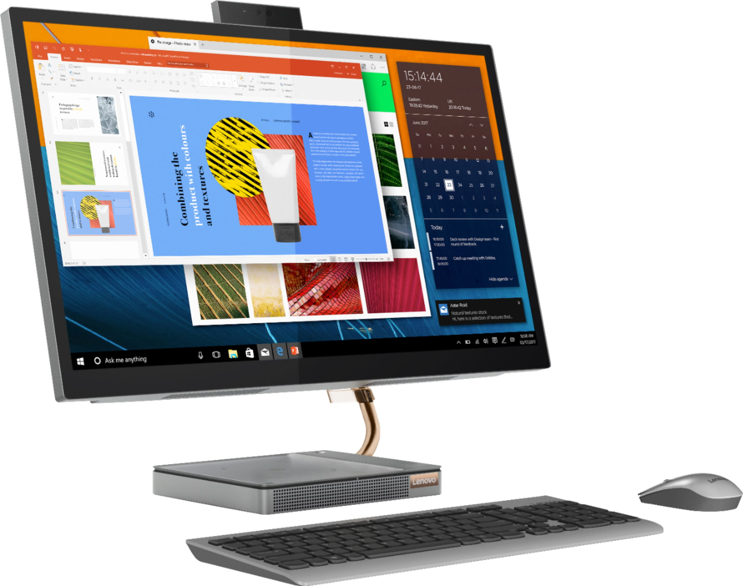 "Angle Zoom. Lenovo - IdeaCentre A540-27ICB 27"" Touch-Screen All-In-One - Intel Core i5 - 12GB Memory - 256GB SSD - Mineral Gray."