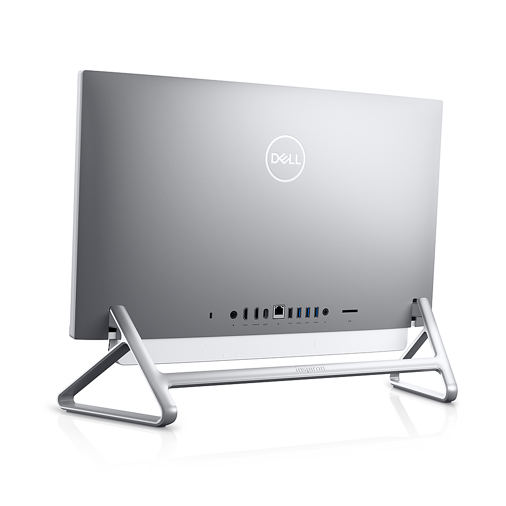 "Back Zoom. Dell - Inspiron 24"" Touch screen All-In-One - Intel Core i7 - 16GB RAM - 256GB SSD + 1TB HDD - NVIDIA GeForce MX330 - Silver."