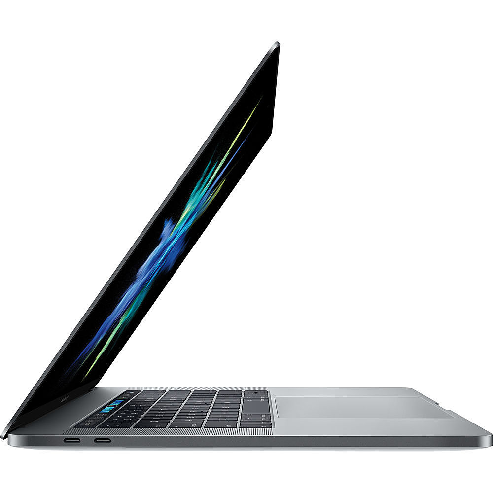"""Left Zoom. Apple - MacBook Pro 15"""" Pre-Owned - Core i7 -  16 GB Memory - 512GB Solid State Drive - Space Gray."""