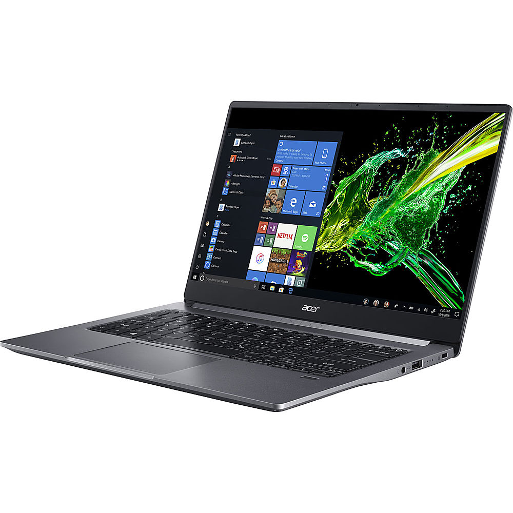 """Left Zoom. Acer - Swift 3 14"""" Refurbished Laptop - Intel Core i5 1035G1 - 8GB Memory - 512GB Solid State Drive - Gray."""