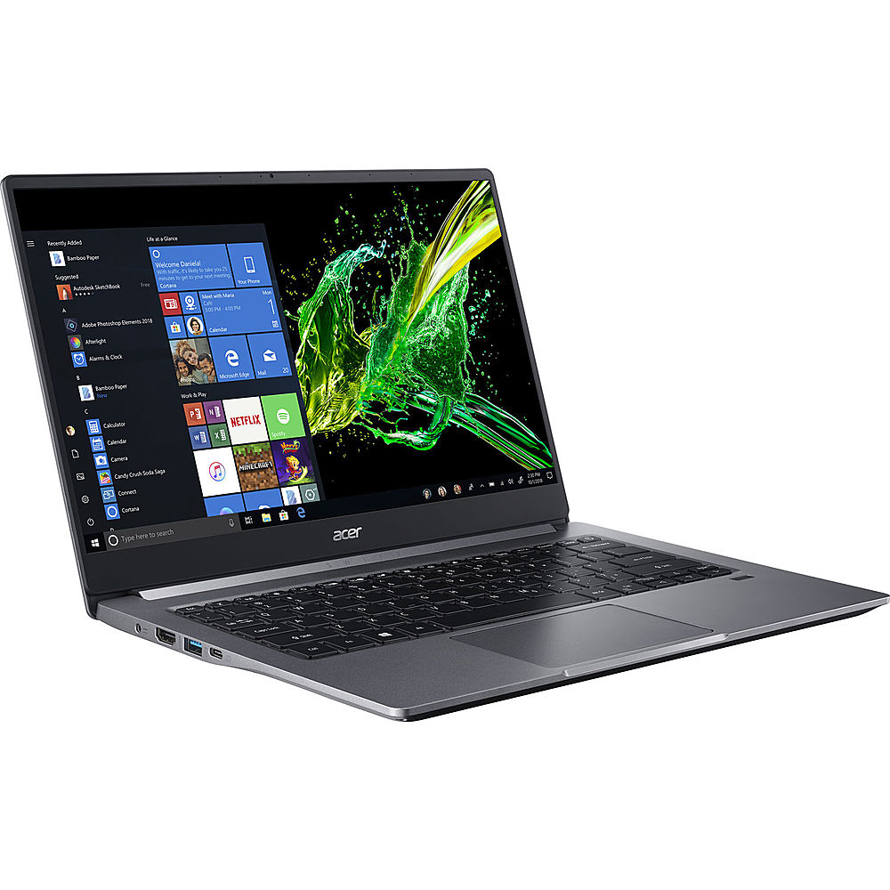 """Angle Zoom. Acer - Swift 3 14"""" Refurbished Laptop - Intel Core i5 1035G1 - 8GB Memory - 512GB Solid State Drive - Gray."""