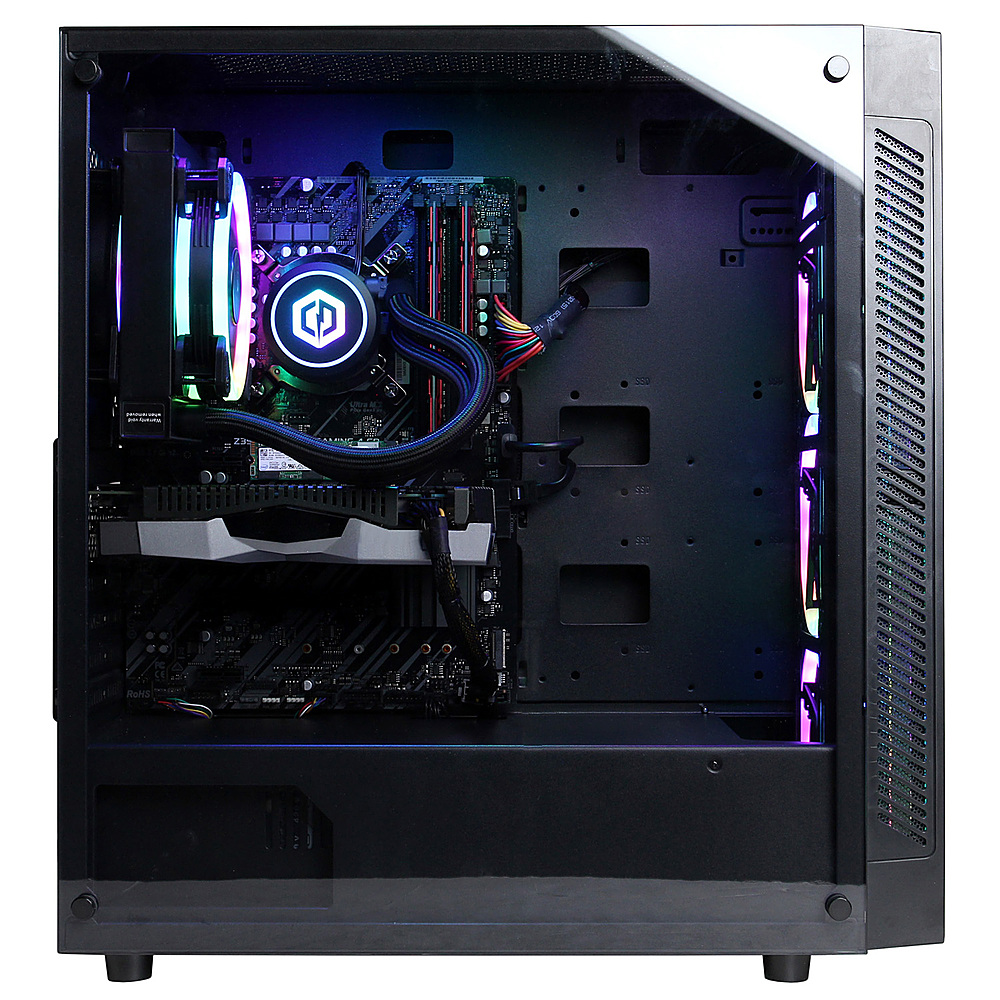 Angle Zoom. CyberPowerPC Gamer Xtreme Gaming Desktop- Intel Core i7-10700K -16G RAM- GeForce GTX 1650 S- 1T HDD+ 500G SSD- Black.
